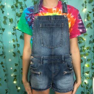 Girls Denim Overall Shorts